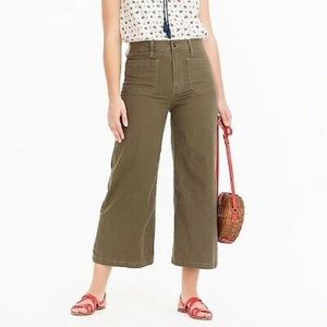 J Crew Point Sur Wide Leg Crop, 24